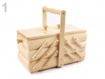 Košík na šicí potřeby rozkládací malý (1 ks)