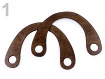 Ucha na tašky dřevěná 16x22 cm s dírami (2 ks)