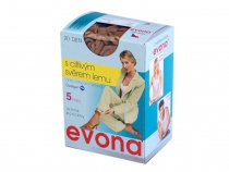 Silonové ponožky 20 den 5 párů Evona (1 krab.)