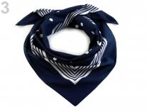 Bavlněný šátek s puntíky Etex 70x70 cm (1 ks)