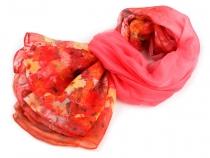 Šifonový šátek s květy 140x140 cm (142 ks)