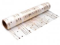 Saténová organza šíře 28 cm natužená (5 m)