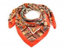 Hedvábný šátek 82x85 cm ornamenty (1 ks)