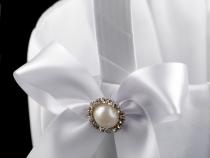 Svatební košíček s mašlí (1 ks)