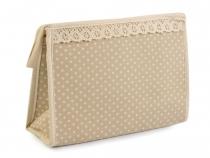 Kosmetická taška 16x23 cm puntíkovaná