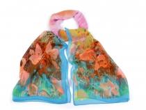 Šifonový šátek květy 50x160 cm (3 ks)
