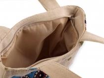 Dětská lněná taška sovy 17x22 cm (1 ks)