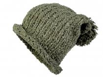 Pletená čepice s bambulí (3 ks)