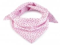 Bavlněný šátek s květy 65x65 cm (5 ks)