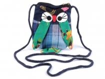 Dětská taška sova 12x17 cm (4 ks)