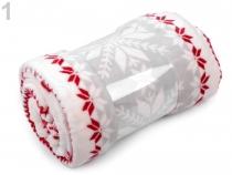Deka Flannel fleece vánoční 150x200 cm (3 ks)