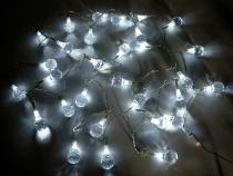 Světelný LED řetěz krystaly (1 sada)