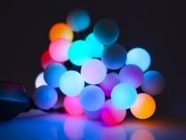 Světelný LED řetěz koule (10 sada)