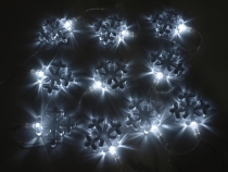 Světelný LED řetěz vločky (1 sada)