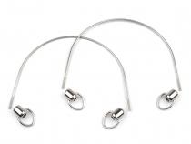 Kovová ucha na tašky s koncovkami délka 30 cm (2 sada)