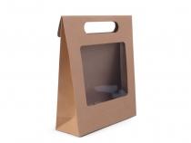 Papírová taška 16x21 cm s průhledem (1 ks)