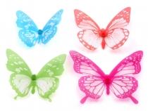 Dekorace motýl 3D sada (3 sada)