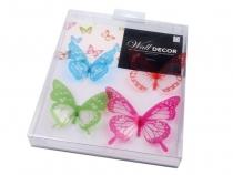 Dekorace motýl 3D sada (1 sada)