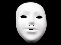 Maska na obličej dětská k domalování (1 ks)