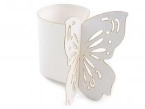 Papírový kroužek na ubrousky Ø4 cm motýl (50 ks)