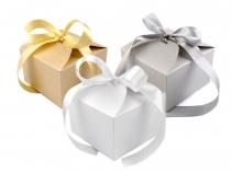 Papírová krabička 8,5x12,5x12,5 cm se stuhou (10 ks)