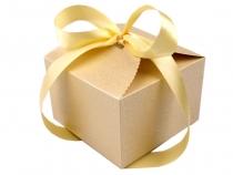 Papírová krabička 8,5x12,5x12,5 cm se stuhou (1 ks)