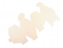 Papírová krabička 6x6x6 cm se srdcem (10 ks)