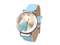 Dámské hodinky 4x23 cm s květem (3 ks)