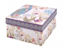 Papírová krabice s víkem - sada 3 ks (6 sada)