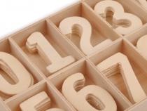 Dřevěné číslice v krabičce (1 krab.)