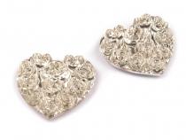 Samolepící dekorace srdce 24 mm (24 ks)