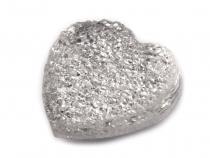 Samolepící dekorace srdce 16 mm (48 ks)