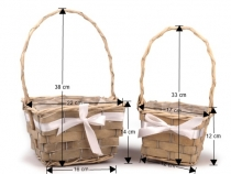 Dekorační košík - sada 2 ks (3 sada)