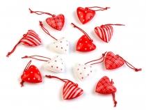 Kovová dekorace srdce mix (12 ks)