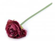 Dekorace květy růže cca 24 cm (6 ks)