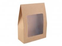 Papírová krabice s průhledem 9,5x13 cm (10 ks)