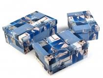 Papírová krabice s víkem - sada 3 ks (5 sada)