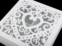 Dřevěná krabice s víkem 18x18 cm (1 ks)