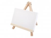 Mini malířský stojan s plátnem 18x23 cm (1 ks)