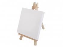 Mini malířský stojan s plátnem 10x15,5 cm (1 ks)