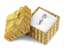 Krabička exklusivní s mašlí 5x5 cm (12 ks)