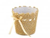 Pletený obal na květináč výška 14 cm (4 ks)