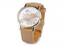 Dámské hodinky 3,8x24 cm s květy (3 ks)