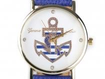 Dámské hodinky 3,8x24 cm s kotvou (1 ks)