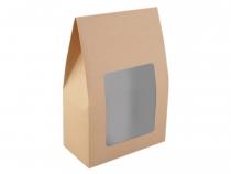 Papírová krabice 16x23,5 cm s průhledem (2 ks)
