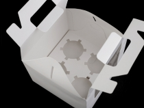 Papírová krabice 15,5x15,5 cm s průhledem (10 ks)