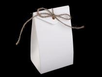 Papírová krabička 7,5x12 cm s provázkem (10 ks)