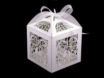 Papírová krabička 6x6 cm se stuhou (50 ks)