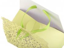 Papírová krabička 7,5x10 cm se stuhou (10 ks)