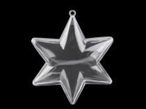 Plastová hvězda Ø100 mm dvoudílná (1 ks)